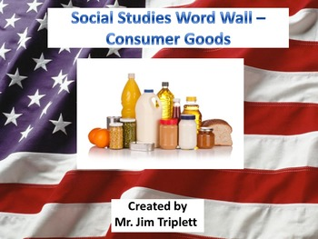 Interactive Social Studies Word Wall Vocabulary Cards - Co