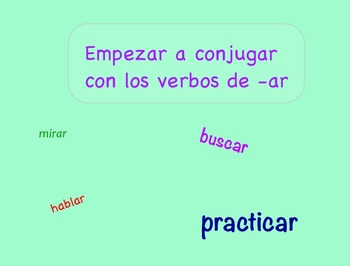 Spanish –ar Verb Conjugation Lesson and Practice Flipchart