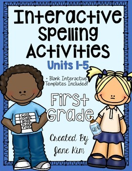 Interactive Spelling Activities Units 1-5: Grade 1