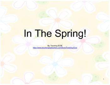 Interactive Spring Book (2) - PRE-K / AUTISM