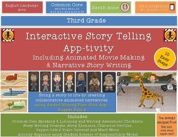 Interactive Story Telling, Writing & Movie Making  iPad Ap