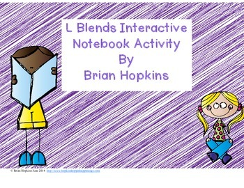 Interactive Student Notebook L Blends FREEBIE