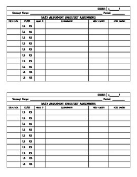 Interactive Student Notebook: Stamp Sheet/Exit Assignments