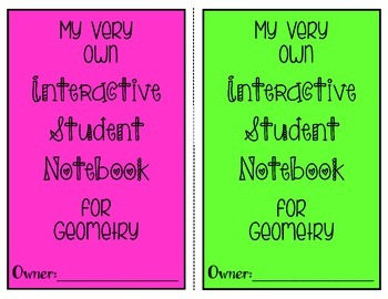 Interactive Student Notebook/Math Journal: {Geometry} Volume One