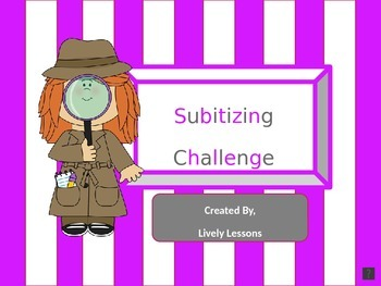 Interactive Subitizing Challenge (Visual and Audio PowerPoint)