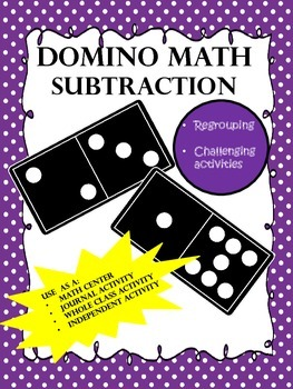NO PREP...Subtraction Dominoes with Regrouping...Interacti