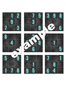 Interactive Sudoku Bulletin Board (Chalkboard Style)