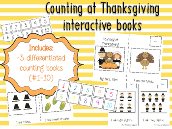 Interactive Thanksgiving Counting Books (differentiated in