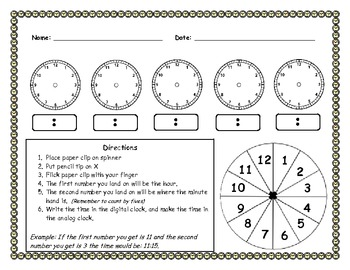 Interactive Time Worksheet