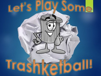 Interactive Trashketball Powerpoint Review Game Template