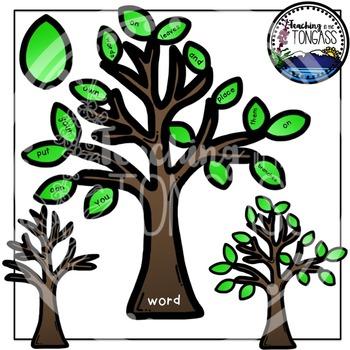 Interactive Tree Clipart Bundle