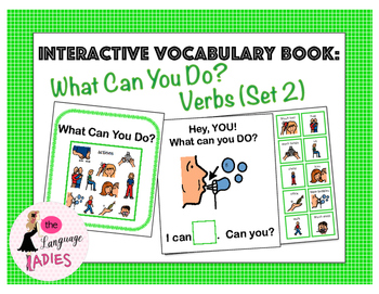 Interactive Vocabulary Book: What Can You Do? VERBS! Set 2