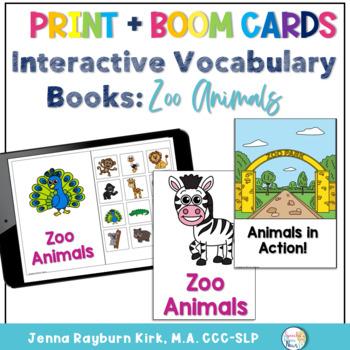 Interactive Vocabulary Book: Zoo Animals