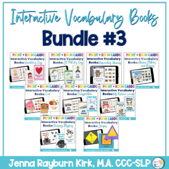 Interactive Vocabulary Books: Bundle 3