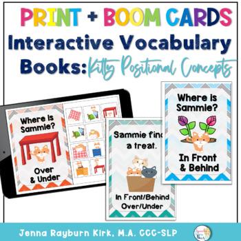 Interactive Vocabulary Books: Kitty Preposition Over, Unde