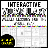 Interactive Vocabulary Lessons For the Whole Year - 3rd Gr