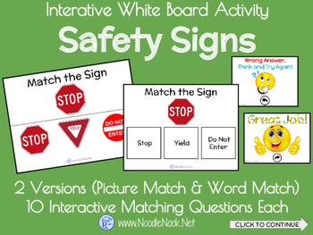 Interactive Whiteboard Activity featuring Community Signs