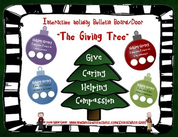 FREE! Interactive Winter Holiday Giving Tree Bulletin Boar