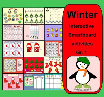 Interactive Winter Smartboard Activities for K-1