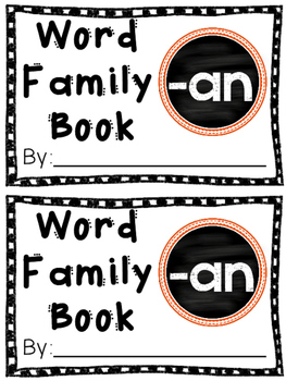 Interactive Word Family Book: -an