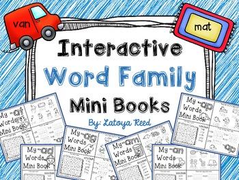 Interactive Word Family Mini Books Short A