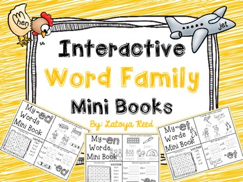 Interactive Word Family Mini Books Short E