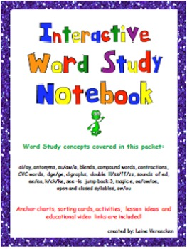 Interactive Spelling Notebook