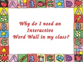 Interactive Word Wall Power Pt