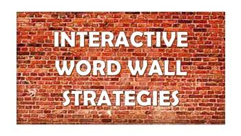 Interactive Word Wall Strategies