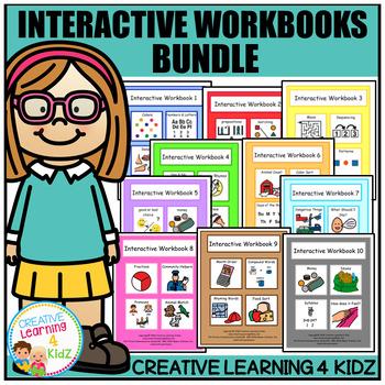 Interactive Workbook Bundle (10 Books) Autism
