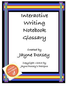 Interactive Writing Notebook Glossary