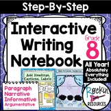 Interactive Writing Notebook Grade 8 with ALL Common Core