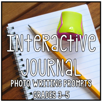 Interactive Writing Notebook Journal Set One, Photo Prompt