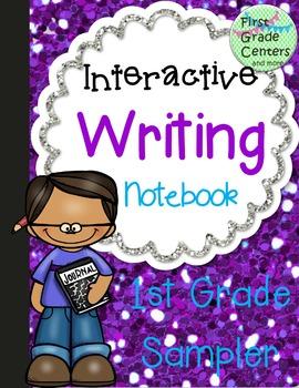 Interactive Writing Notebook for First Grade {Sampler}