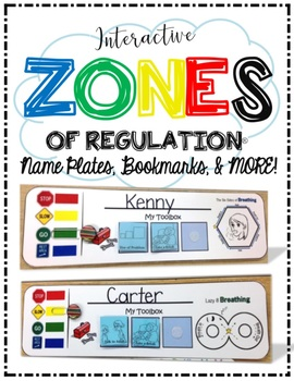 Interactive ZONES of Regulation Package - Name Plates, Boo