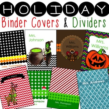 Binder Covers and Dividers for any Planner or Binder  * ed