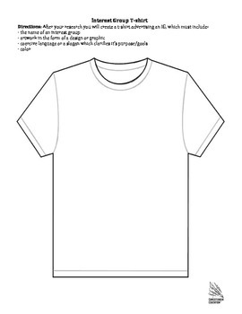 Interest Groups Research Activity and T-Shirt Design