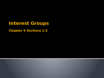 Interest Groups Lesson