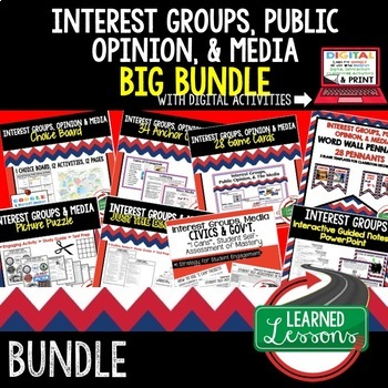 Interest Groups, Public Opinion, and Media (Civics and Gov