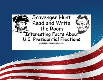 U.S.Presidential Elections Scavenger Hunt-Interesting Fact