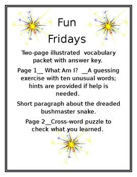 Interesting Vocabulary