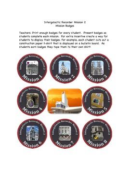 Intergalactic Recorder Mission 2 Classical Missions Badges
