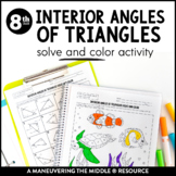 Interior Angles of Triangles 8th Grade