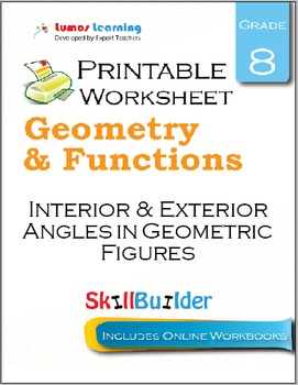 Interior & Exterior Angles in Geometric Figures Printable