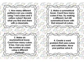 Math Stations: Interlocking Cube Task Cards