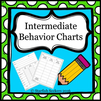 Behavior Charts - Intermediate Grades