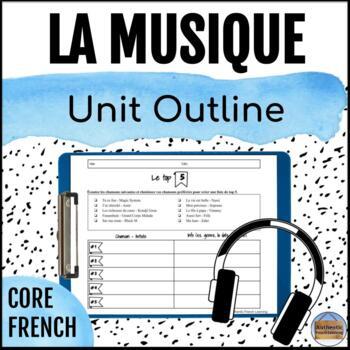 Intermediate Core French Unit Plan: Music