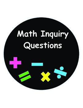 Intermediate Math Inquiry Questions