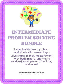 Grade 4-6 Problem Solving Bundle: Time, Money, Ratio, Percent!