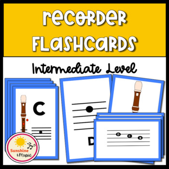 Intermediate Recorder Flashcards and Fingering Chart